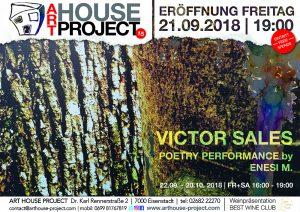 AHP 15: Víctor Sales @ ART HOUSE Project | Eisenstadt | Burgenland | Austria